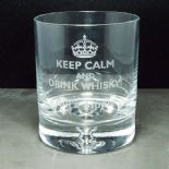 Whisky Glass, PERSONALISED Keep Calm, ref KCCW